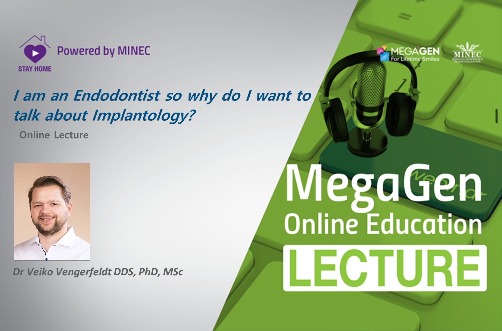 I am an Endodontist so why do I want to  talk about Implantology?